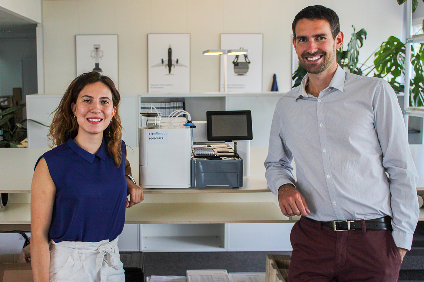 Bionomous co-founders Ana Hernando and Frank Bonnet